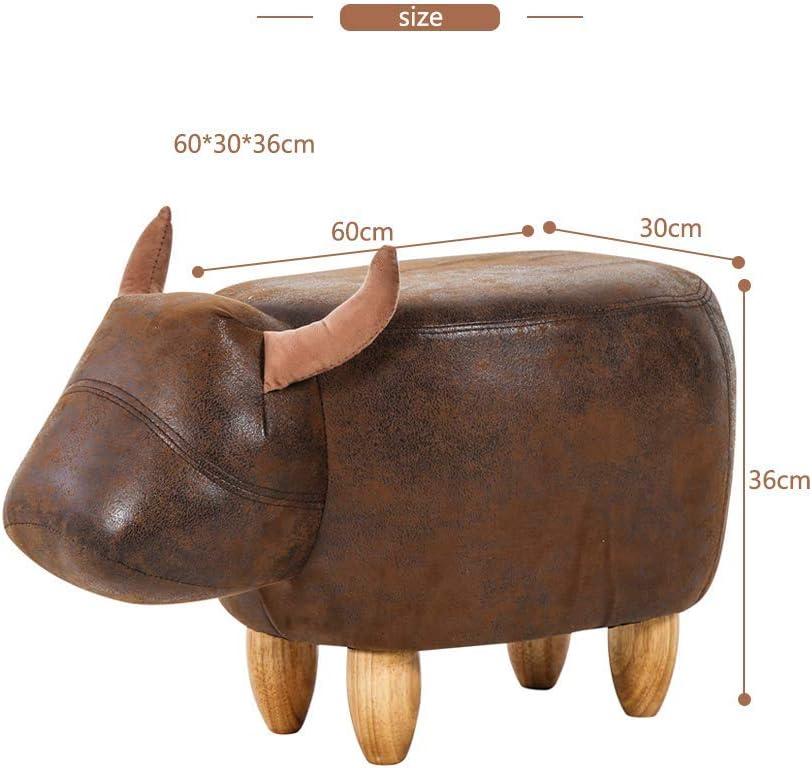 MissZZ Repose-Pieds en Forme d'animal Ottomans Coussin rembourré Repose-Pieds Tabouret siège de Repos canapé Chaise Dinosaure Vert Dark Brown Bull