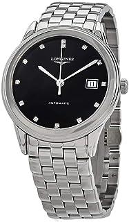 Longines Flagship Automatic Diamond Black Dial Men's Watch L4.974.4.57.6