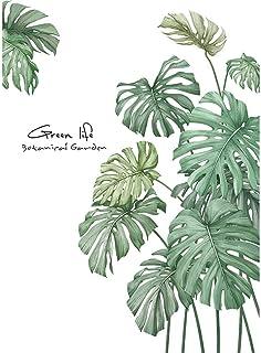 XLGX Feuilles Autocollants Mur Plantes Tropicales Sticker Affiches de l'auberge pour Décoration Masion Chambre boutique Fo...