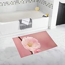 Spring Flower Pink Custom Non-slip Bath Mat Rug Bath Doormat Floor Rug For Bathroom 20 X 32 Inch