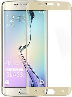 doupi 2X FullCover Protector de Pantalla Compatible con Samsung Galaxy S6 Edge Plus, Cobertura Completa 3D 9H HD Duro Vidrio Templado, 2 Piezas, Dorado