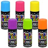 Goofy String Spray Cans Assorted Among Orange, Purple, Pink, Yellow, Green, and Blue 1.8 oz- Pack of 3