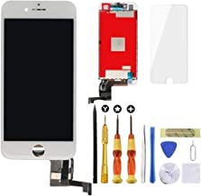 """Screen Replacement for iPhone 7 White Lansupp 3D Touch Screen Glass Digitizer Frame Assembly with Tempered Glass Screen Protector + Repair Tools 4.7"""""""