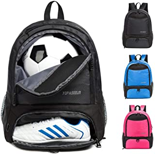 Youth Soccer Bags -Boys Girls Soccer Backpack Basketball vollyball Football Bag& Backpack with Ball Compartment - All Spor...