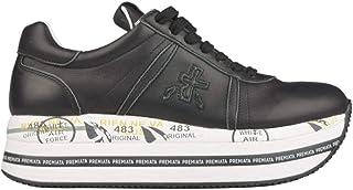 Luxury Fashion   Premiata Women BETH3873 Black Leather Sneakers   Spring-summer 20