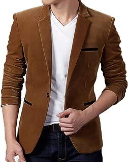 Autumn Winter Casual Corduroy Slim Fit Long Sleeve One Button Blazer Jacket Coat