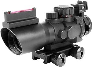 AIM Sports JTAPO432G Tri-Illuminated 4X32MM Scope w/Fiber Optic Sight