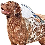 A spray attachment designed for pets can make bath time easier on dogs and their parents.
