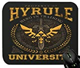 Touchlines - Hyrule University Mouse Pad for Gaming and Office 230x190x5mm Black