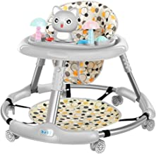 FUG Multifunctional anti-rollover height adjustable foldable foldable baby walker boy and girl