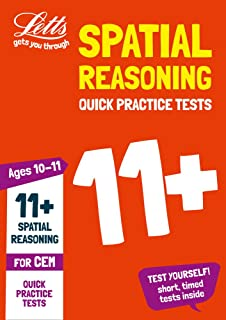 Letts 11+ Success – 11+ Spatial Reasoning Quick Practice Tests Age 10-11 for the CEM tests