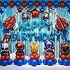スーパーヒーロー誕生パーティーデコレーションキッズ誕生パーティーあなたの子供の誕生日パーティーのテーマに適し