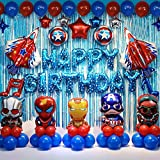 Superhelden Geburtstag Partei Dekoration Set Kinder Party Party Dekoration Lieferungen Geburtstags...
