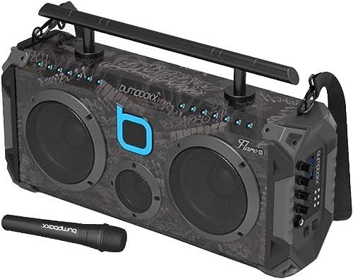Bumpboxx Bluetooth Boombox Flare8 Black Graffiti BBG | Retro Boombox with Bluetooth Speaker | Rechargeable Bluetooth ...