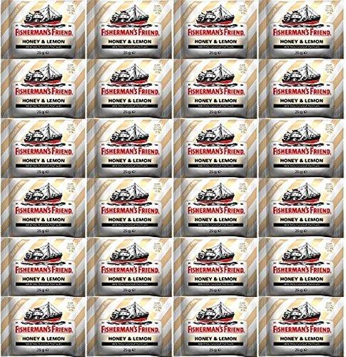 Vissers Vriend Honing & Citroen Menthol Smaak zuigtabletten 25g x 12 Packs