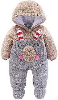 95sCloud Baby M/ädchen Jungen Schneeanz/üge mit Kapuze Overall Strampler Footed Winterjacke Jumpsuit Warm Kleidungsset Babykleidung Outfits Strampler Spielanzug Sweatshirt Coat Mantel