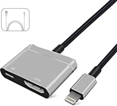 Lightning to HDMI Adapter Compatible with iPhone X 8 7 6 5 iPad HDMI Adapter Converter, Digital AV Adapter Adaptor, 2018 Latest 1080P Audio AV Connector(Charging Cable is Included)