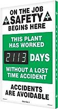 SCK113 Aluminum Digi-Day Electronic Safety Scoreboard,