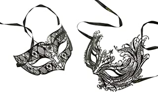 Inc Love Collection Couples Venetian Laser Cut Masquerade Mask Set