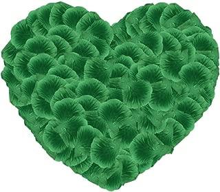 Neo LOONS 1000 Pcs Artificial Silk Rose Petals Decoration Wedding Party Color Emarald Green