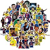 Calcomanías de estrella de fútbol Neymar Maleta Graffiti Laptop Neymar Monopatín Equipaje Fútbol Pegatinas Deporte Niños Calcomanías Regalo 50pcs