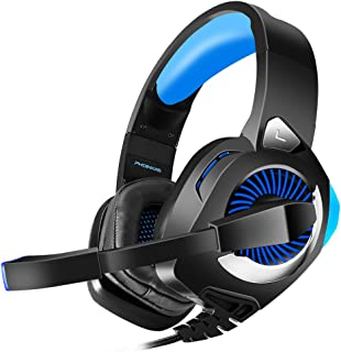 PHOINIKAS H9 Gaming Headset for PS4, PC, Xbox One, Nintendo Switch, Laptop, Xbox One Headset with 7.1 Surround Sound, Over...