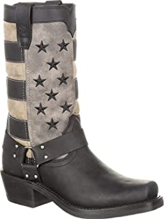 Women's Flag Harness Boot Motorcycle