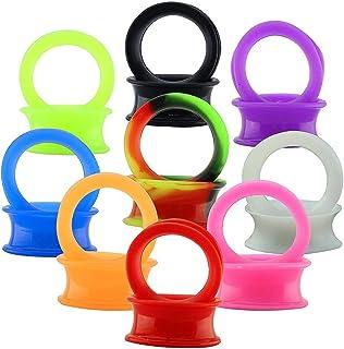 ZeSen Jewelry 9 Pares Oídos Delgados Flexibles de Silicona Dilatación Oreja 4-25mm Expansores de Túnel Silicona para Hombr...