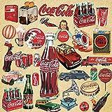 YMSD Pegatinas retro Coca-Cola equipaje, impermeable portátil guitarra nostálgica personalizada decoración pvc pegatinas