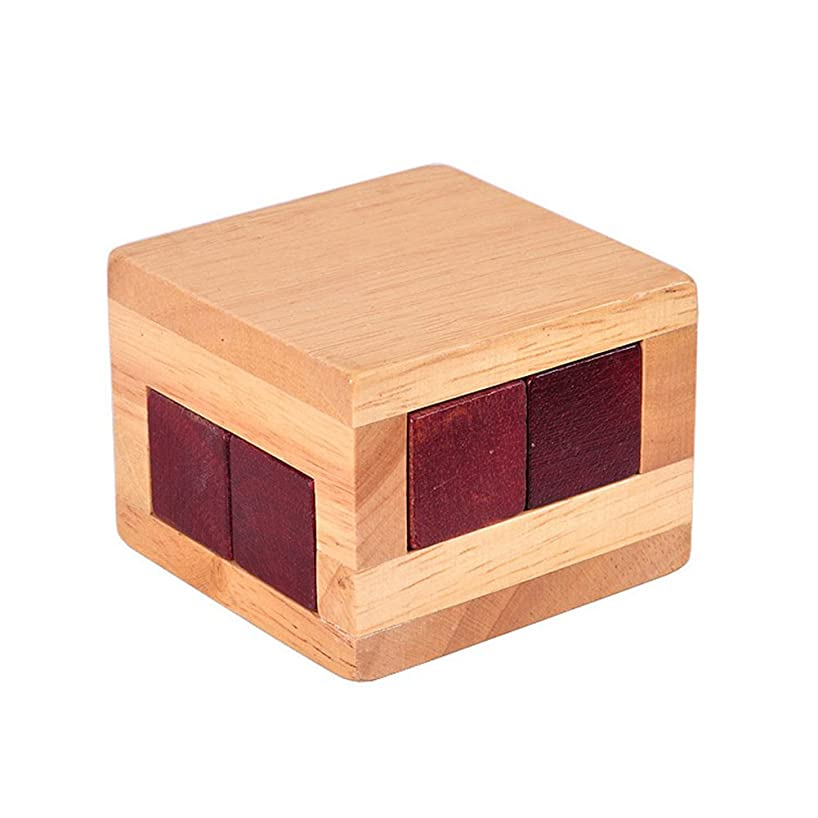 Faironly Mini Wooden Puzzle Unlocking Box Toy Labyrinth Brain Teaser Intellectual Gift for Children/Adult Large