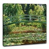 Niik Quadro + Telaio (BC) Il Ponte Giapponese di Claude Monet 60 x 60 x 1,7 cm Falso d'autore Stampa su Tela