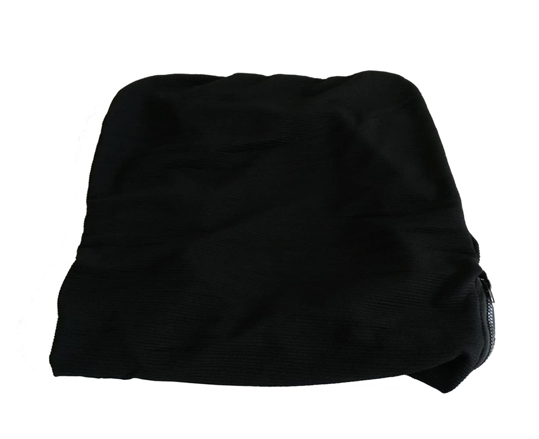 宣教師シビック見せます特大事務所の椅子カバー 弾力無地 回転椅子椅子カバー ブラック L