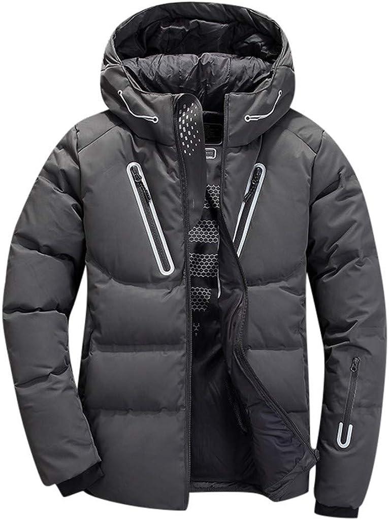 NRUTUP-Mens Winter Ultra Warm Puffer Jacket Water-Resistant Windproof Down Jacket for Outdoor Parkas Overcoat