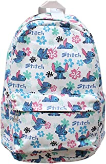 Lilo & Stitch Mochila de Lona Mochila de Viaje Mochila Escolar Mochila Deportiva Mochila de Ocio Mochila de impresión de Moda Mochila Viaje (Color : A01, Size : 40 X 29 X 15cm)