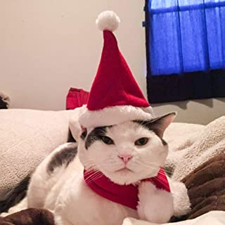 Namsan Cat Christmas Outfit Adjustable Dog Halloween Costume Hat Kitten Costumes for Cats, Puppy