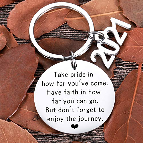 Graduation Gifts For Him Her Class of 2021 Seniors Students Keychain...