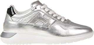 Luxury Fashion | Hogan Women MCGLCAK0000F8072I Silver Leather Sneakers | Season Outlet