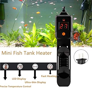 Acogedor Mini Fish Tank Heater,100W/220V Submersible Fish Tank Heater with LED Display,Adjustable Thermostat Knob,Waterproof Rubber Design, for Both Saltwater and Freshwater Fish Tank.