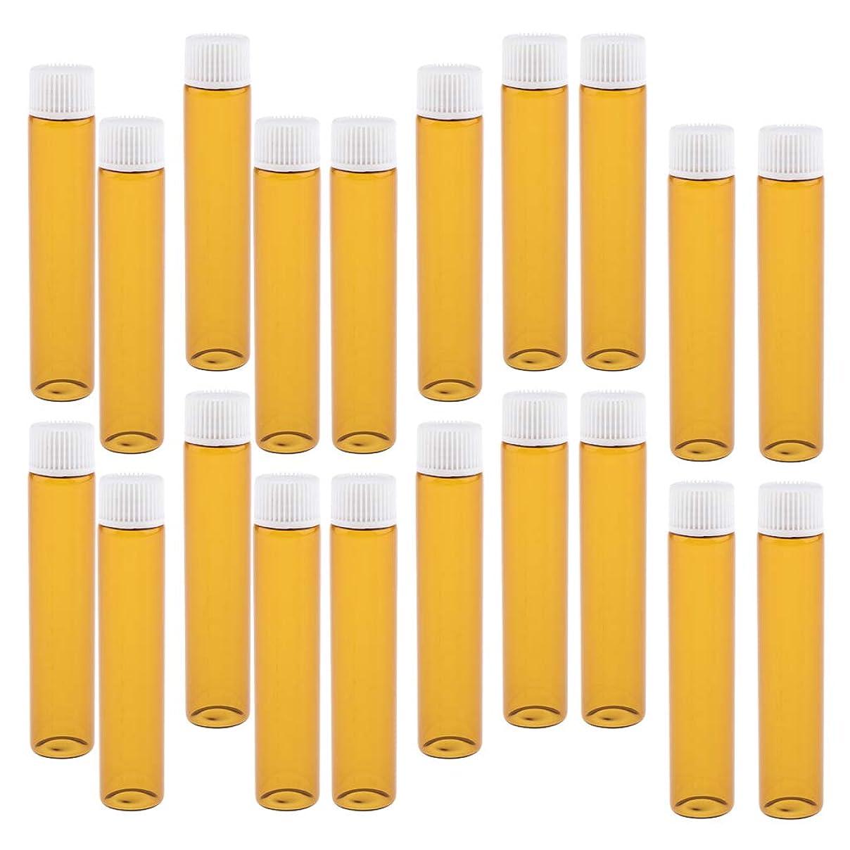 カナダ前平行20個 詰替え容器 香水ボトル ガラスボトル 小分け容器 小分けボトル 全4色 - ホワイト