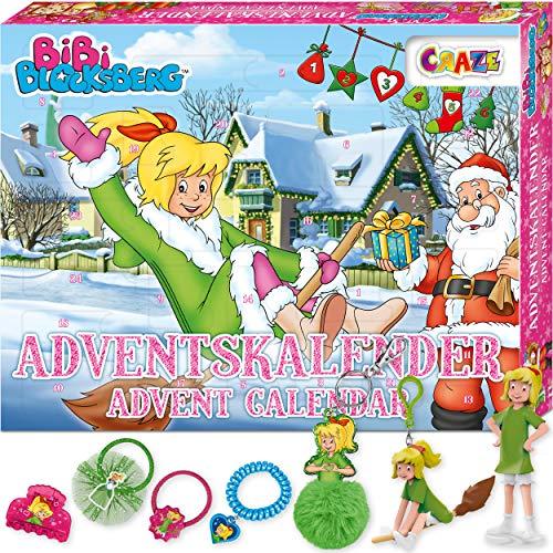 CRAZE Adventskalender BIBI BLOCKSBERG verhexte Abenteuer 3D Specials Kinderschmuck Haarschmuck Kinder Weihnachtskalender mit tollen Überraschungen 25291