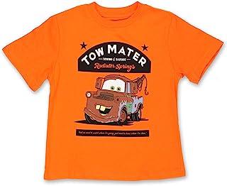 Disney Cars Tow Mater Toddler Boys Short Sleeve T-Shirt Tee (5T, Orange)