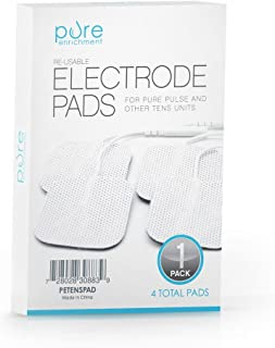 PurePulse TENS Electronic Pulse Massager Pads – Premium, Self-Adhesive Replacement Electrode Pads Compatible with PurePulse and Most Other TENS Units (Total of 4 Pads)