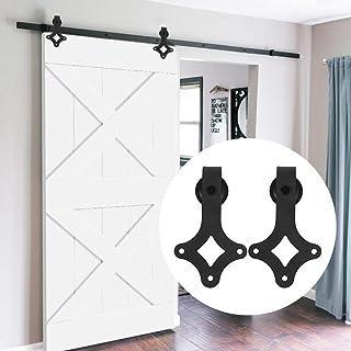Kit de Accesorios de Puertas Carril de Acero carbono de puerta deslizante de Granero Corredera de madera Puerta Deslizante 183CM