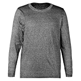 Evonecy Long Sleeve T-Shirt, Level 5 Cut Resistant Comfortable PE Anti Slash Mens Long Sleeve Shirts, Sheet Metal Processing for Metal Manufacturing(XXL)