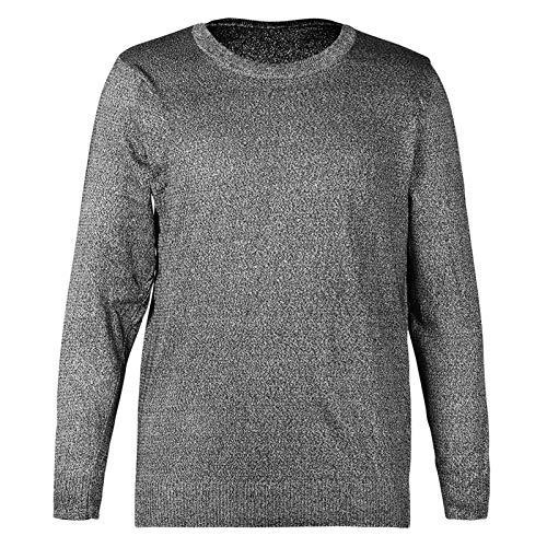 Fockety Camisas de Manga Larga para Hombre, Cuello Redondo, cómodo, Resistente a Cortes, Camisa de Manga Larga de PE de Nivel 5, procesamiento de Chapa de Alta Densidad para la fabricación de(XXL)