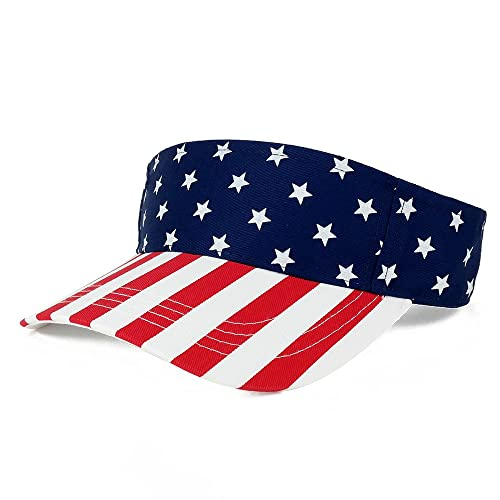 5cd48ab150795 MG American USA Flags Stars and Stripes Patriotic Twill Cotton Visor