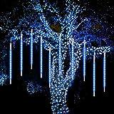Meteor Lights, WASAGA Luces de lluvia LED 20 tubos 960 LED (paquete de 2) 50cm Luces de caída de carámbano de Navidad Luces de nieve para la fiesta de bodas de Navidad Urban Decor