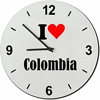 Druckerlebnis24 Exclusivo: Vidrio de Reloj I Love Colombia una Gran Idea para un Regalo para su Pareja, colegas y Muchos más! - Reloj, Regaluhr, Regalo, Amo, Made in Germany.