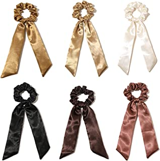 yeesport 6PCS Women Hair Scarf Scrunchie Set Retro Fashion Hair Scarf Tie Hair Ribbon Scrunchie Gentle Style Hair Accessor...