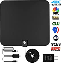 [Updated Version] Indoor HD Digital TV Antenna | 60~80 Miles Long Range | Support 4K 1080P with Amplified Signal Booster | Best HDTV Antennas